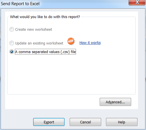 Report to CSV
